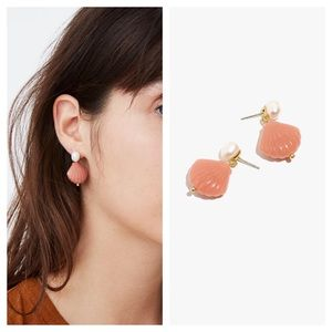 NWT! MADEWELL Pearl and Shell Earrings